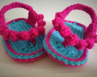 Newborn Baby Flip Flops, Baby Girl Flip Flops, Baby Crochet Sandals, Baby Girl Sandals, Crochet Sandals, Baby Footwear, Baby Shower Gift