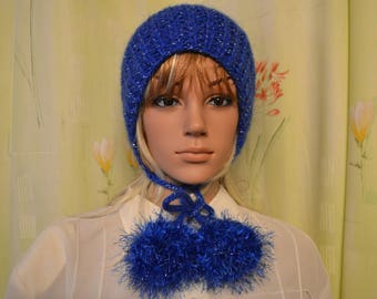 electric blue hat