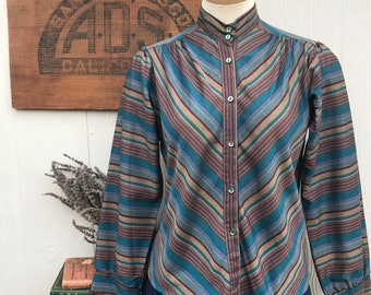 VIntage Multi Colored Striped Blouse
