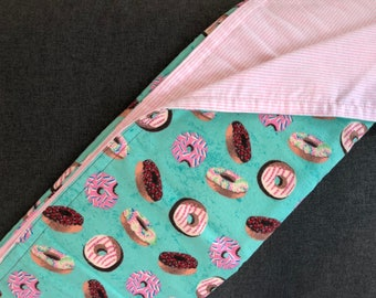 Donuts - Flannel reversible receiving blanket