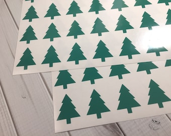 Christmas Tree Stickers, 72, Christmas Tree Planner Stickers, Christmas Tree Sticker Set, Christmas Tree Envelope Seals, Tree Stickers