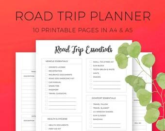 Road Trip Planner, Car Journey, Multi-city Travel planner, Vacation Planner, Plan a Road trip, Long journey, Travel Organizer, A4, A5, Games
