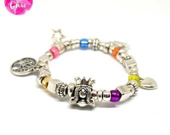 bracelet rainbow princess