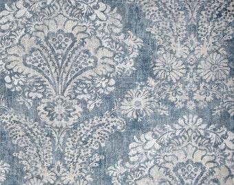 Custom Shower Curtain Hamilton Denim blue shades of grey 72 x 84 108 long shower curtain Extra wide shower curtain Fabric Shower Curtain
