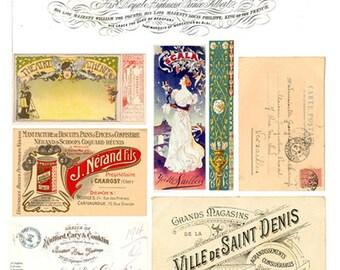 Vintage Ephemera Collage Sheet  No.6570