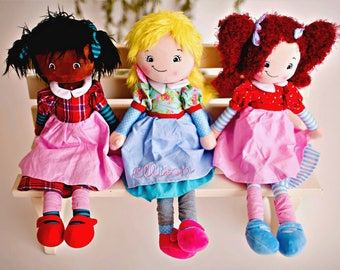 Personalized Doll - Custom Doll - Personalized Gift - Birthday Gift - First Birthday - Plush Doll - Cubbie - Name Doll - Gift Idea - Doll