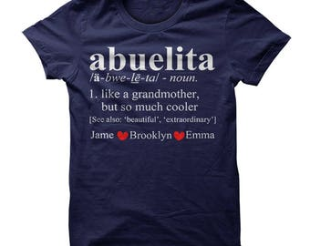 Abuelita shirt, abuelita t shirt, abuelita shirts, abuelita tshirt, abuelita gift, grandma Christmas shirt, Personalized Abuelita Shirt