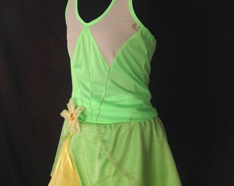 Tiana inspired complete running outfit with compression shorts, arm sleeves and tiara
