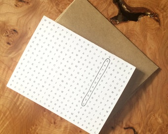 Printable Bahá'i Wordsearch Greeting Card | Digital File | INSTANT DOWNLOAD