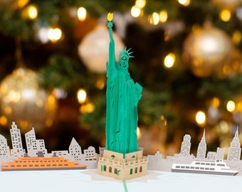 Statue of Liberty Pop Up Card, New York City Pop Up Card, NYC Skyline Card, NYC Landmark, Lady Liberty, Lovepop