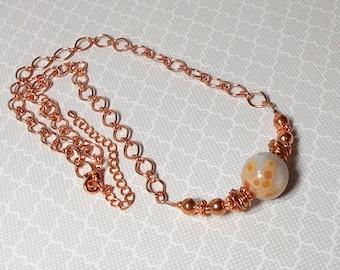 Ocean Jasper Stone With Copper Necklace, Jasper Stone Necklace, Copper Necklace