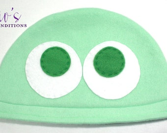 Puyo Puyo Green Hat / Fleece Hat / Winter Hat / Puyo Hat / Video Game Characters