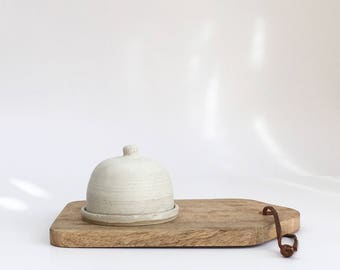 Stoneware ceramic butter dish with lid, pottery lidded butter keeper, crock, handmade, gift, present, Rebecca Williams Ceramics mothers day
