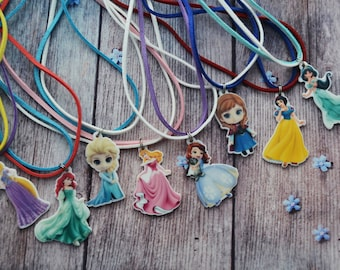 Birthday gifts for girlfriend gift jewellery gift|for|her Necklace handmade Disney princess birthday Princess party Necklace flower girl