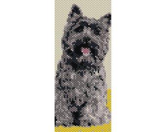 Toto Peyote Bead Pattern,Oz Dog, Bracelet Cuff Pattern, Bookmark, Seed Beading Pattern Miyuki Delica Size 11 Beads - PDF Instant Download