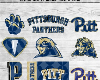 university of Pittsburgh svg,team,logo,svg,png,eps,dxf,files for cricut,silhouette,collegiate,ncaa,banner,Panthers,decal,vinyl,football svg