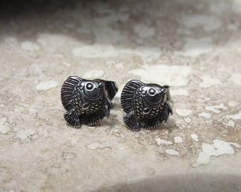 Sterling Silver Small Fish Post Earrings