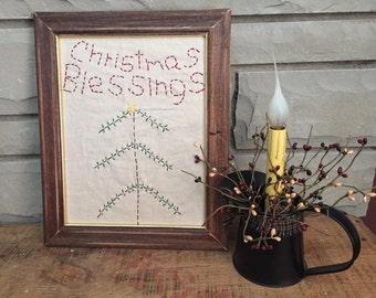 Primitive Christmas Blessings