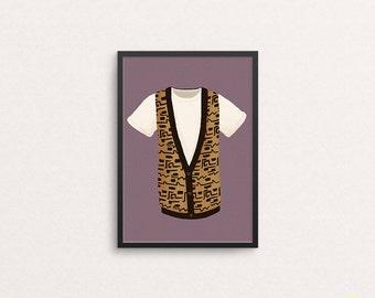 Ferris Bueller T-Shirt and Vest Art Print / Ferris Bueller's Day Off Illustration