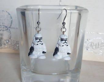 Storm Trooper Stainless steel earrings