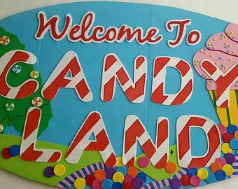 3ft candy land sign/party decoration/prop