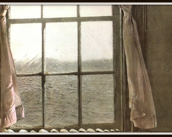 "Detail from Her Room Andrew Wyeth, Andrew Wyeth print, American Artist, Wyeth Art, Wyeth Art, New England Painting, approx 13"" X 17"" tall."