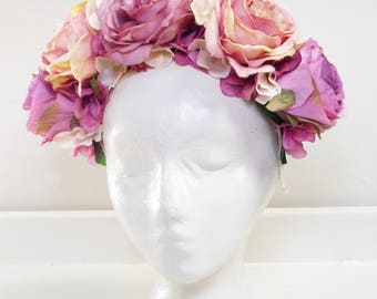 Full bloom Oversized floral headpiece - Purple