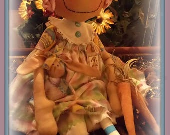 Cute Primitive Cloth Doll PATTERN - Annie's Easter - KCP171