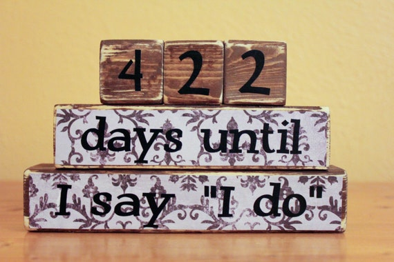 Countdown To Wedding Gifts: Items Similar To Engagment Gift- Countdown Wedding