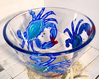 Crab Bowl, Maryland Crab Bowl, Crab Dishware, Crab Gift, Personalized