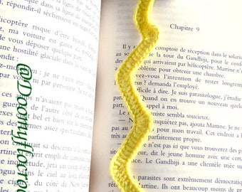 Cute and kawaii crocheted textile storm cloud bookmark