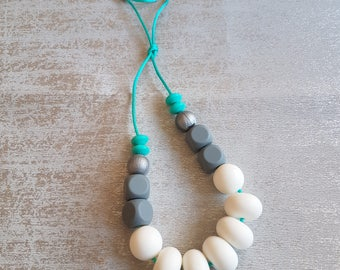 Silicone Teething Necklace, Teething Accessory, Teething, breastfeeding, Bite Beads, Teether, Chewing Beads, Nursing Necklace,