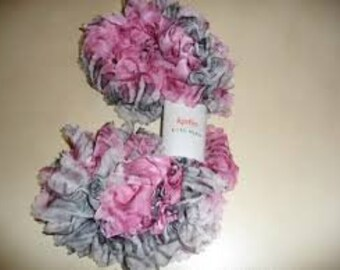 Tulle fabric ruffled scarf various colors