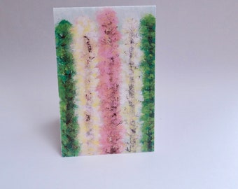 "Watercolor ""Trees in Spring"" Card Sets 4x6inch"