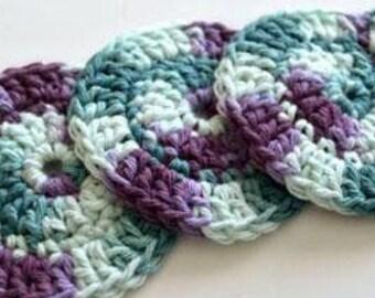 Crochet Face Scrubbies 100% Cotton Custom Colours
