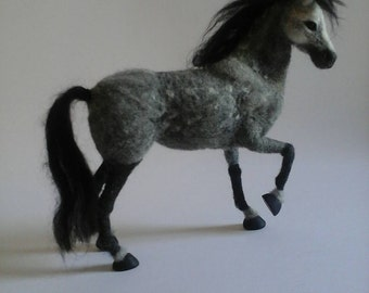 Needle Felted Horse /OOAK / Custom Miniature Sculpture of your horse /Equine gift