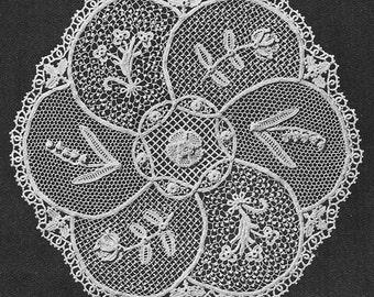 INSTANT DOWNLOAD 1955 Irish Lace Sampler Doily Vintage Crochet Pattern PDF 057