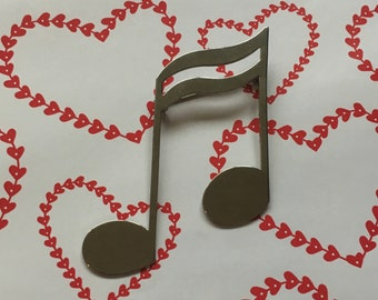 Silver Musical Note Brooch