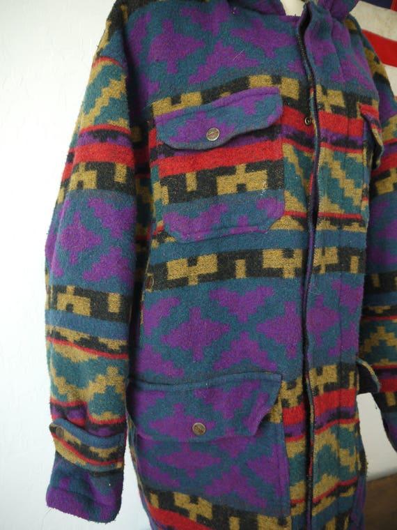 Vintage Nigel Cabourn Aztec Jacket / Navajo jacket / South American Vintage Wool Aztec Jacket, coat, parka, southwest native Indian jacket