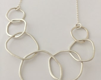 7 Link Sterling Silver Necklace