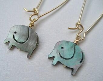 Inspirational,Elephant Earrings,Elephant Jewelry,Long Gold Earrings,Luck Earrings,Luck Jewelry,Elephant Lover Gift,Inspirational Jewelry