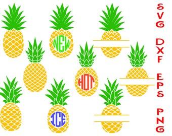 pineapple svg, pineapple monogram, pineapple dxf, clipart pineapple, cricut  files, t-shirts stickers, monograms svg, monograms, cut files