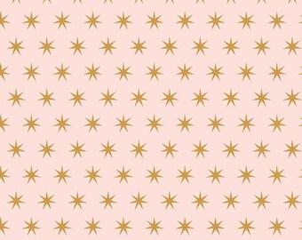 Just Sayin' Star-pink/sparkle cotton/sparkle stars/gold/Riley Blake Fabrics/Riley Blake Sparkle/Just Sayin' collection