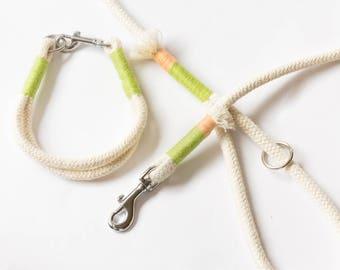 Cotton rope dog leash   natural rope leash   dog leash   handmade lead   rope dog lead