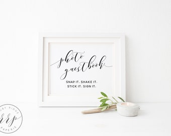 Photo Guestbook Sign | Guest Book Sign | Printable Guest Book Sign | Printable Guestbook Sign | Polaroid Guest Book | Photo Booth Sign - BMC