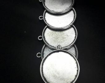 5 basis voor cammeo zilveren 25 mm