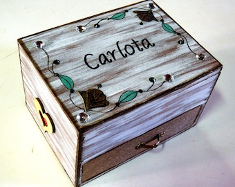 Wooden Jewelry Box, Wedding Mirror Box, Personalized Mirror Box, Custom Mirror Box, Wedding Mirror Jewelry Box, Mirrored Box, Anniversary