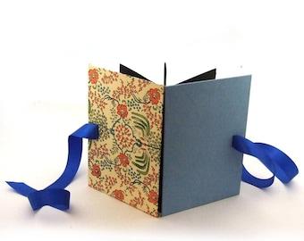 Accordion Book Art Nouveau, baby blue brag book, memory book baby album
