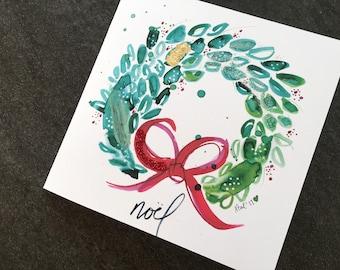 Noel Wreath Art Card