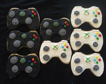 Xbox controller large sugar cookie party favors
